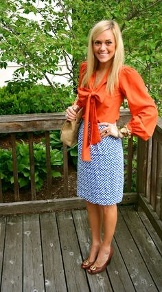 homemade lattice print skirt on ellebowroom.com