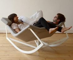 Sway rocking chair can be configured to face each other, or just one big rocking chair.  This is the perfect rocking chair!!!