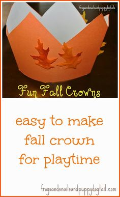 Fall Crowns- easy to make and perfect for playtime by FSPDT