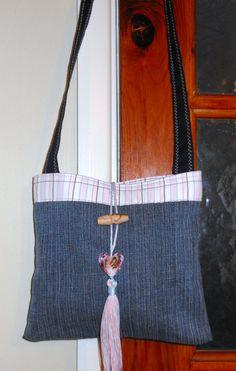 Recycled/Upcycled Denim Shoulder Bag