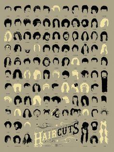 108 Peinados de la historia de la música // 108 of the Best #Haircuts in #Music History
