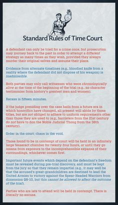 Standard Rules of Time Court (typo removed). pic.twitter.com/fmsHyXjsgK