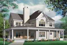 Elevation of Country   Craftsman   House Plan 64980
