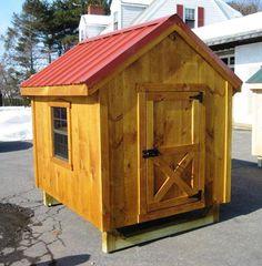 chicken coop with metal roof. chicken coop, metal roof