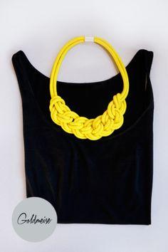 Statement-Kette aus handgefärbtem Seil // Rope necklace by Goldmeise via DaWanda.com