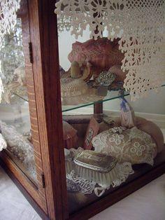 shabby chic vignette/living room by skblanks, via Flickr