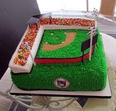 Alamo Sweets. LLC: Baseball Field Birthday Cake