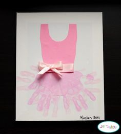 How CUTE! Ballerina hand print craft