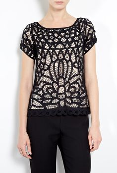 $259.88 - Day Imperial Lace Short Sleeve Top by DAY Birger Et Mikkelse