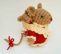 Mommy mouse and Baby mouse Amigurumi Crochet Pattern