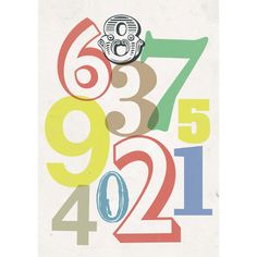 Poster Small Numbers Poster ($24) ❤ liked on Polyvore
