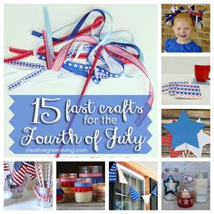 15 last minute patriotic crafts for the Fourth of July.