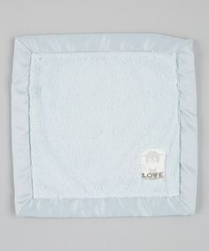 Look at this #zulilyfind! Blue Posh Satin Security Blanket #zulilyfinds
