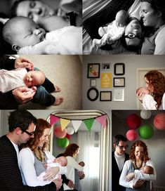Newborn lifestyle photography at home