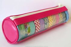 pouch with washi tape