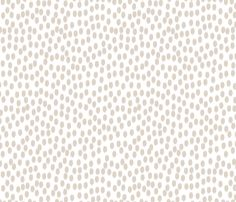 Linen Beige and White Scattered Dots - sweetzoeshop - Spoonflower