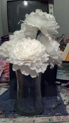 coffee filter flowers...