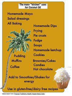"""The many """"kitchen"""" uses for Coconut Oil"""