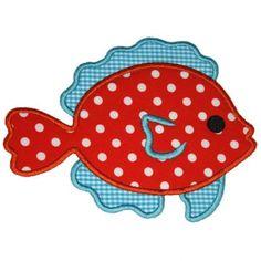 Cute Fish Applique  embroidery boutique