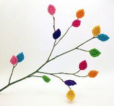 Crocheted Leaves