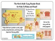 Click here to find out how your kids can make this cute little easy reader!  $3.00