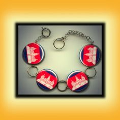 Cambodian flag bracelet.