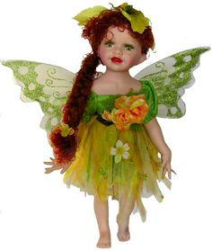 Fairy Porcelain Dolls-Fairy Dolls-Angel Porcelain Dolls-FAIRY Porcelain Doll By Cathay Collection-Deasia
