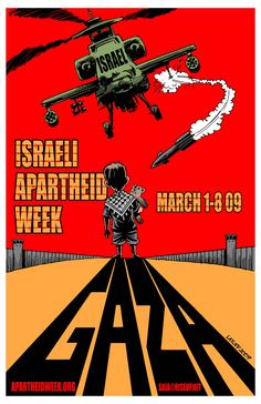 Now, this is a good propaganda poster. Emotional without being maudlin or pornographic. Striking and visually strong, although the labeling of Israel is kind of amateur.