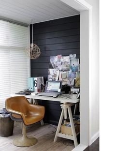 IKEA furniture can do a great job of illustrating one of our key principles — merging great design with accessible practicality. It's also just so dang versatile. Dress it up with elegant accessories, play it minimal and dramatic, or get creative and eclectic. I rounded up IKEA home offices in each of our new decor styles to provide a little inspiration.