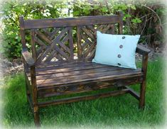 Build a Bench With a Woven Back   Red Hen Home featured on Remodelaholic.com #bench #buildit #seating @Remodelaholic