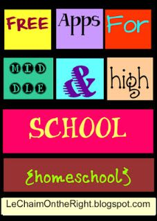 Le Chaim (on the right): Free Apps For Middle and High School