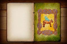 Graphic design based on Celtic Art by Natália Gouvêa, via Behance