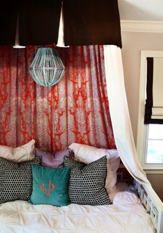 Get seriously crafty with a DIY canopy bed.