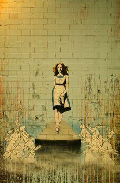Alice street art.
