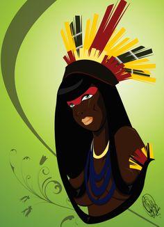 Mulher de Xingu by Orádia N.C Porciúncula - Licença Creative Commons 3.0/ Creative Commons Attribution-Noncommercial-No Derivative Works 3.0 License