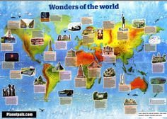 Big or small you will love them all. The 70 Wonders of the World.  Simplified. Ancient, natural, man Made.