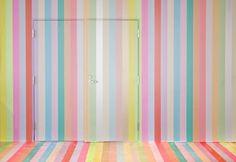 color schemes, color combos, tape art, door, art installations, washi tape, stripe, mask tape, masking tape