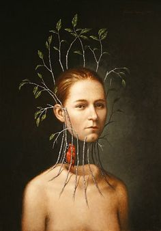 art paintings, surreal artist, bird cage, surreal painting portrait, inspir, steven kenni, birds, illustr, surrealism artists