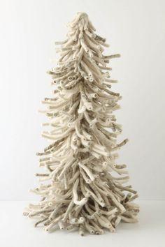 "Shaggy Felt Tree: 32"" tall.  #anthropologie"