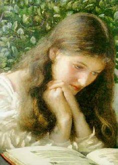 Pre Raphaelite Art: Edward Robert Hughes, Idle Tears