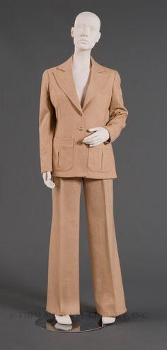 Two-piece pants suit  c. 1973