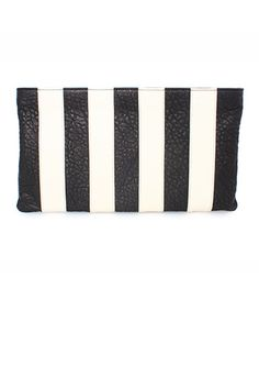 Large Stripe Clutch