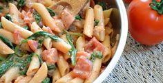 Creamy Tomato And Spinach Pasta | Inspired Dreamer