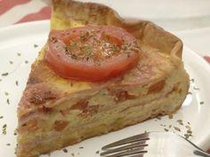 Tarta de jamon, queso y tomate