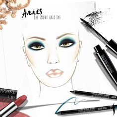 Aries! Learn how to create a smoldering look inspired by your fire sign and claim your free MAKE UP FOR EVER birthday gift. #Sephora #howto #makeuptutorial