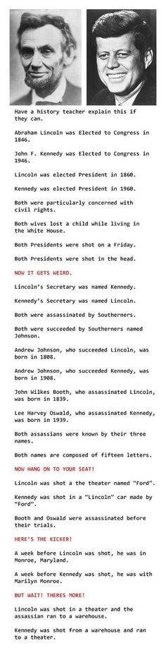 Mind blowing coincidences... If they are all true