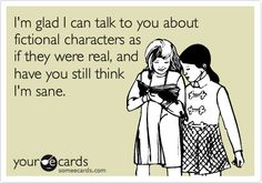 Talking about fictional characters