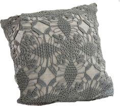 beauti crochet, decor pretti, handcrochet pillow, decorative pillows, violet, linens, grey, diy, crochet smaller