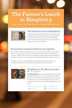 The Farmers Lunch at Simplicity
