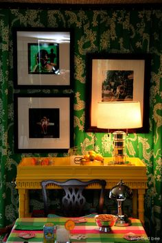 Lilly Pulitzer Card Room by Scot Meacham Wood // Peninsula Volunteers Decorator Show House #lilly #card #room